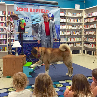 One Man (and One Dog) Comedy Show for Kids and Families